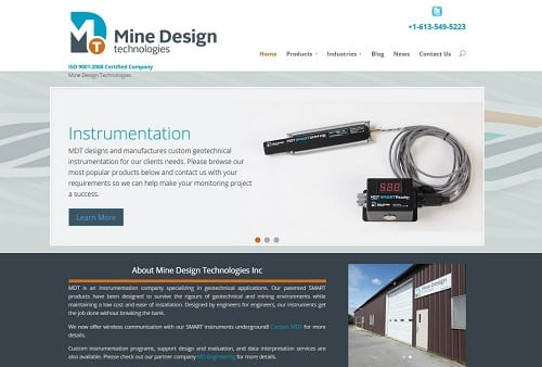 mine design website